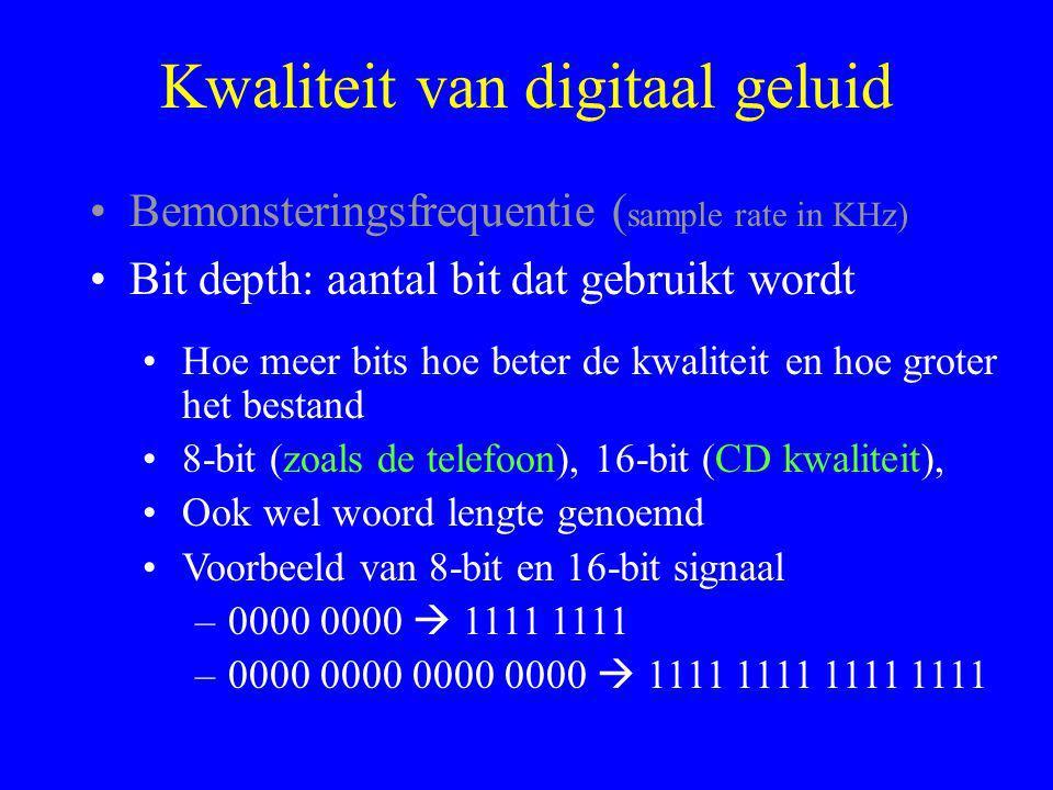 Kwaliteit van digitaal geluid