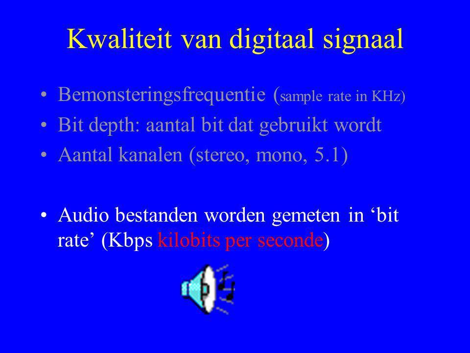 Kwaliteit van digitaal signaal