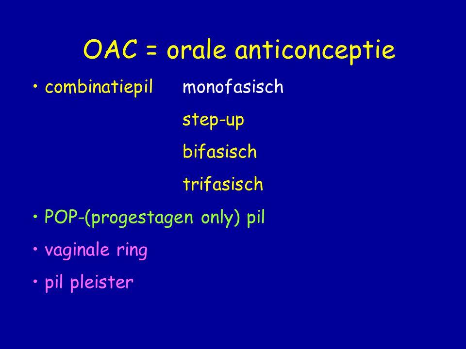 OAC = orale anticonceptie