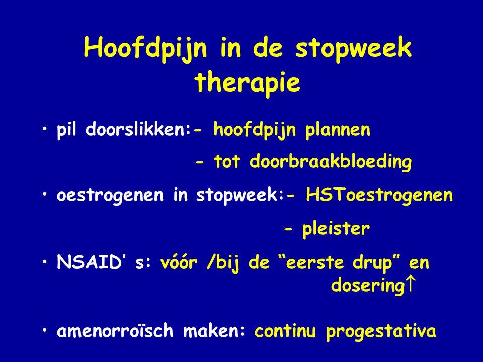 Hoofdpijn in de stopweek