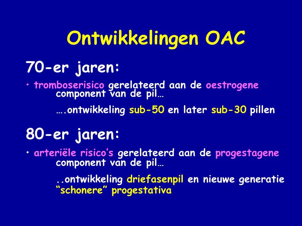 Ontwikkelingen OAC 70-er jaren: 80-er jaren:
