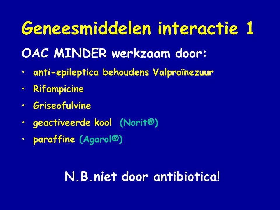 N.B.niet door antibiotica!
