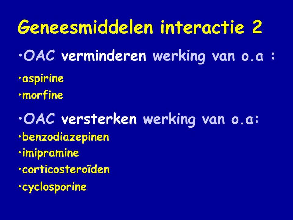 Geneesmiddelen interactie 2