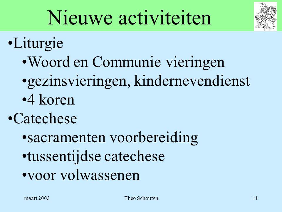 Nieuwe activiteiten Liturgie Woord en Communie vieringen