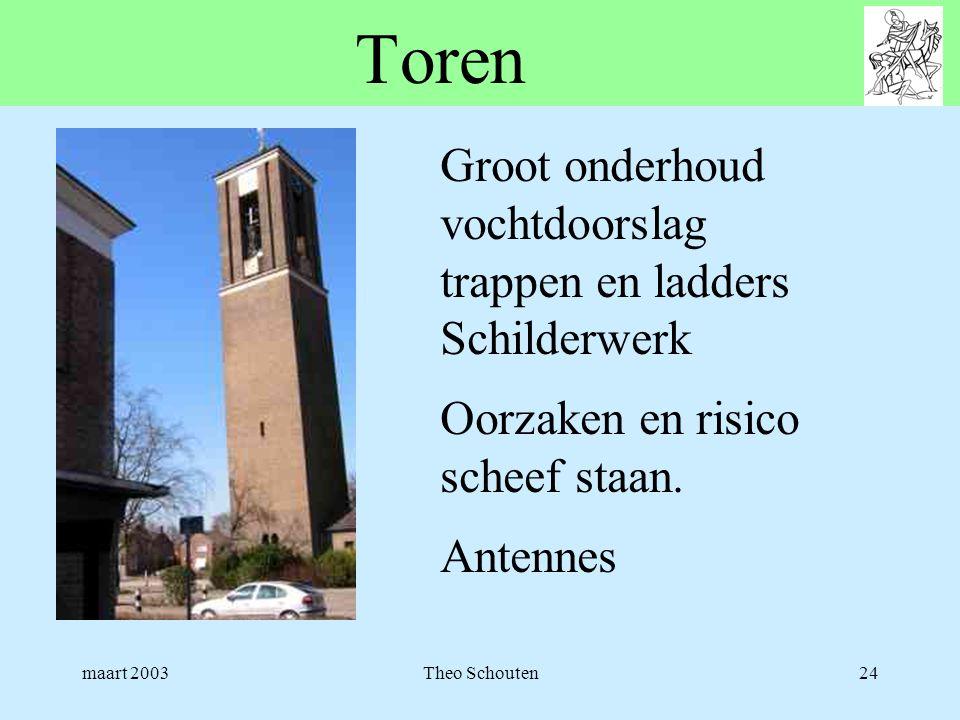 Toren Groot onderhoud vochtdoorslag trappen en ladders Schilderwerk