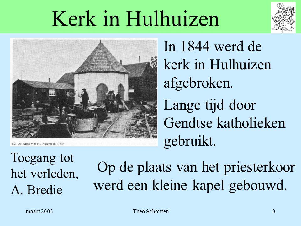 Kerk in Hulhuizen In 1844 werd de kerk in Hulhuizen afgebroken.