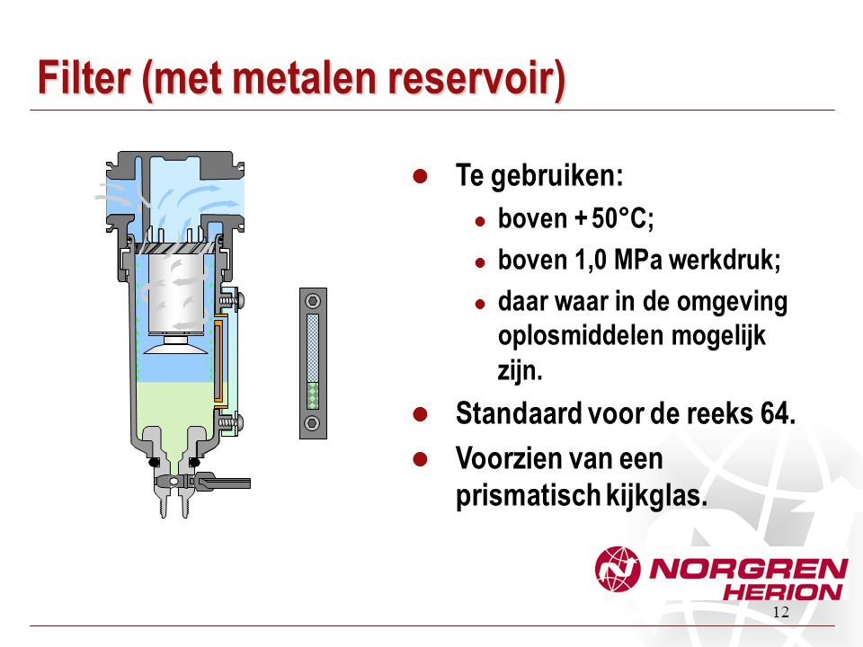 Filter (met metalen reservoir)