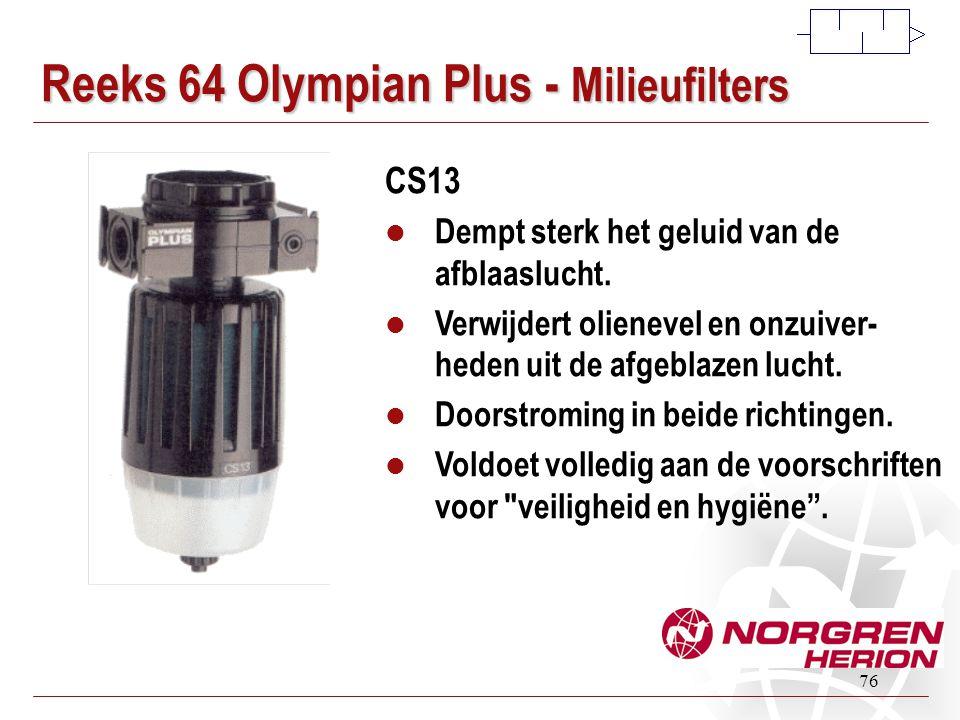 Reeks 64 Olympian Plus - Milieufilters