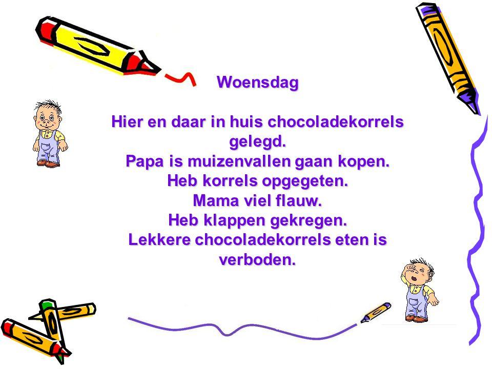 Lekkere chocoladekorrels eten is verboden.