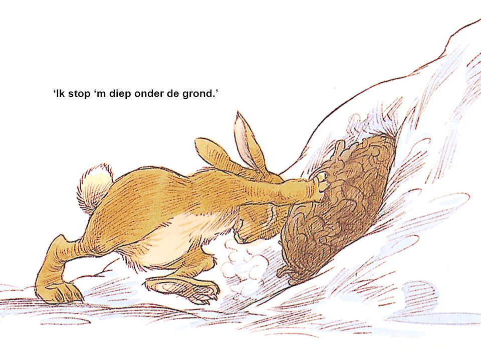 'Ik stop 'm diep onder de grond.'
