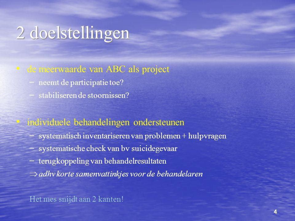 2 doelstellingen de meerwaarde van ABC als project