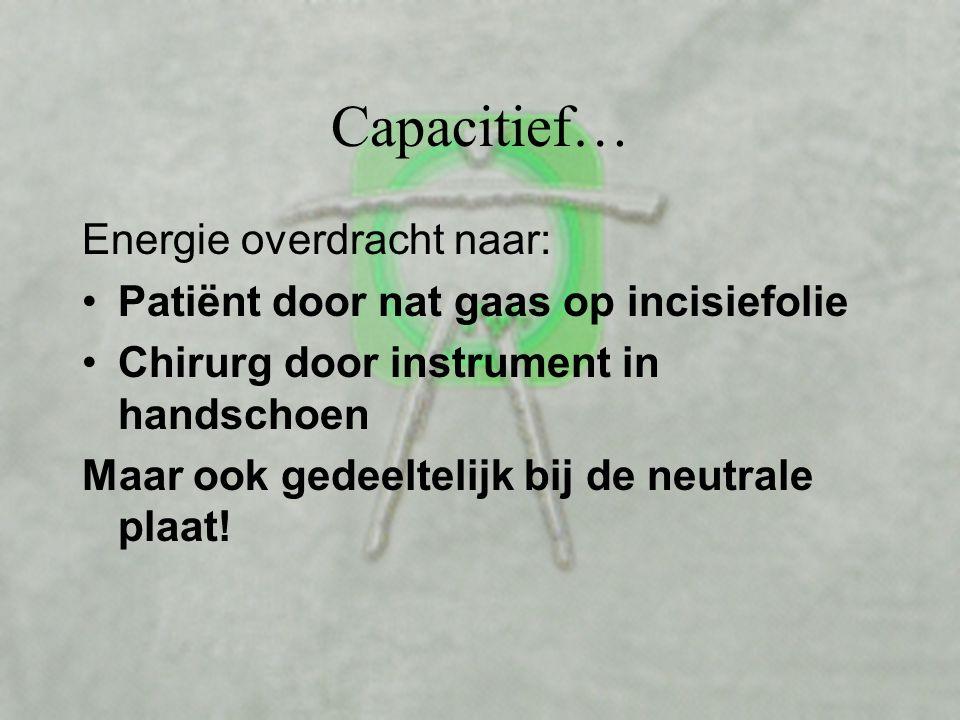 Capacitief… Energie overdracht naar: