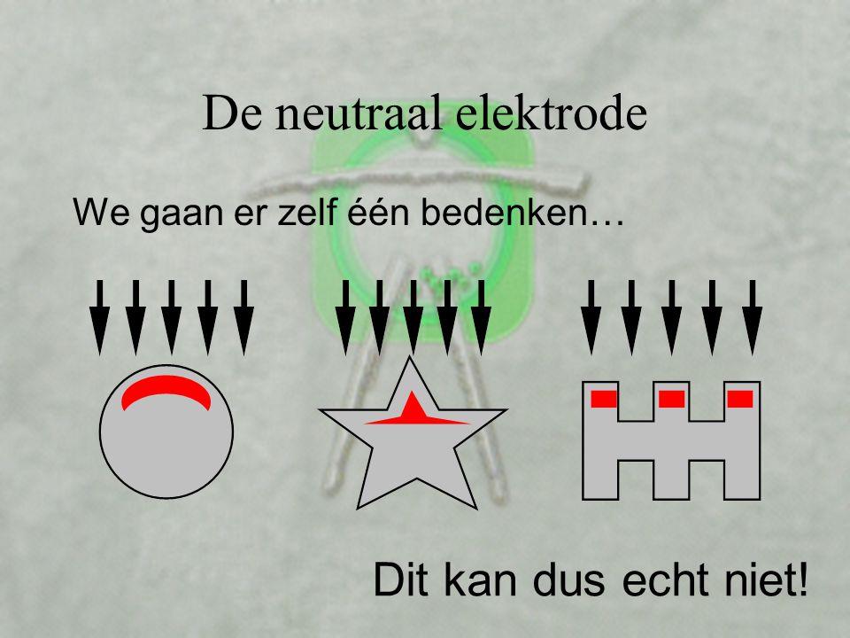De neutraal elektrode Dit kan dus echt niet!