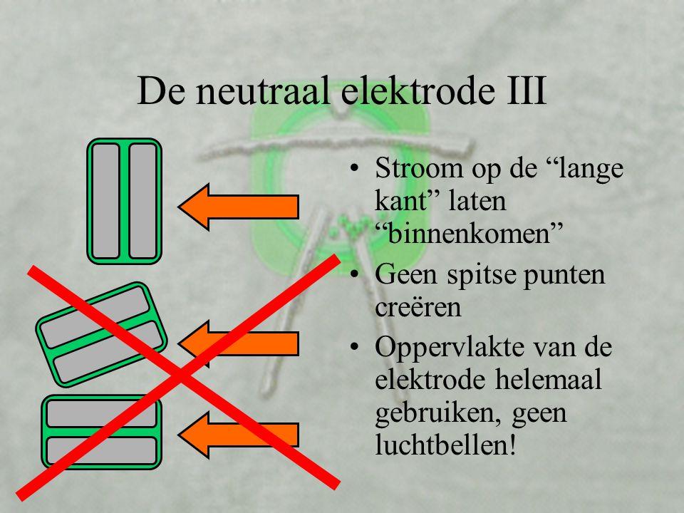 De neutraal elektrode III