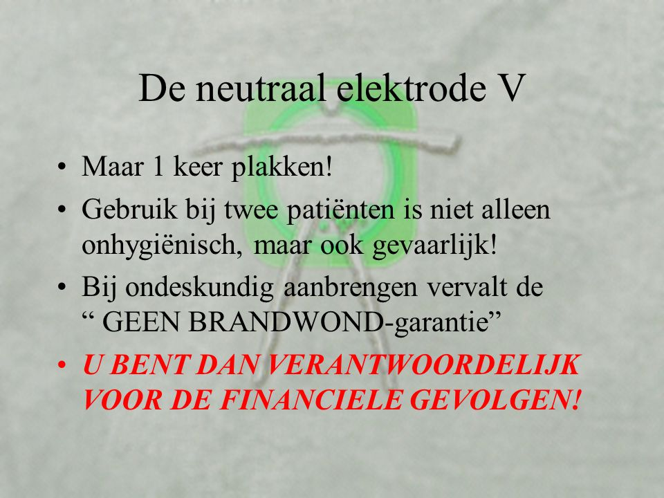 De neutraal elektrode V