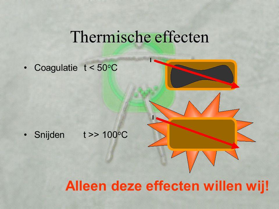 Thermische effecten Alleen deze effecten willen wij!