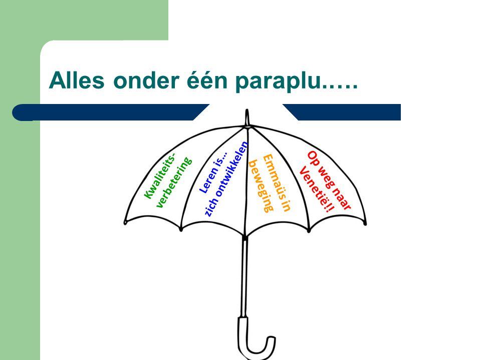 Alles onder één paraplu.….
