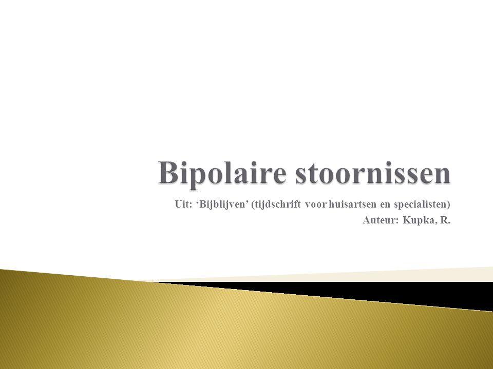 Bipolaire stoornissen
