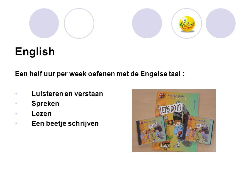 English Een half uur per week oefenen met de Engelse taal :