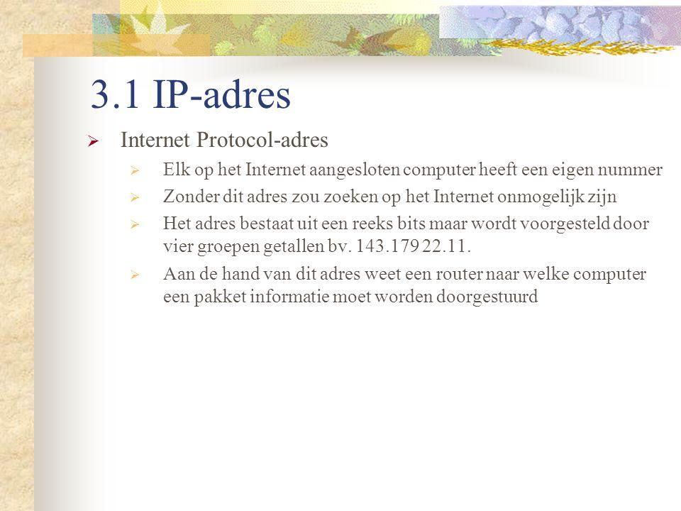 3.1 IP-adres Internet Protocol-adres