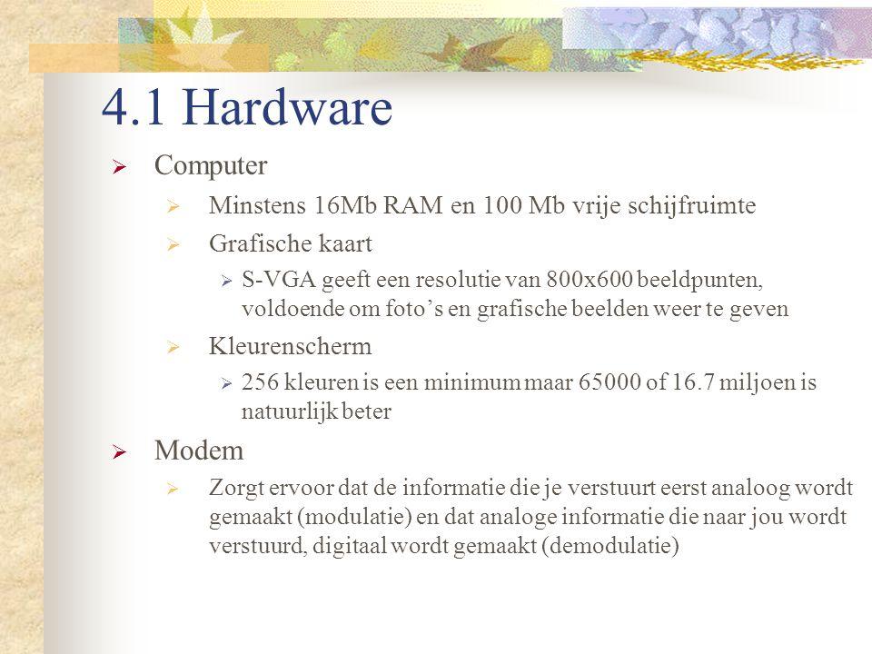 4.1 Hardware Computer Modem