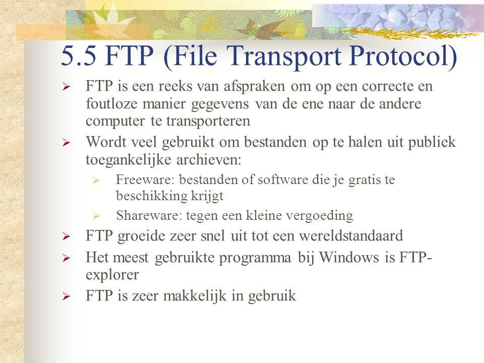 5.5 FTP (File Transport Protocol)