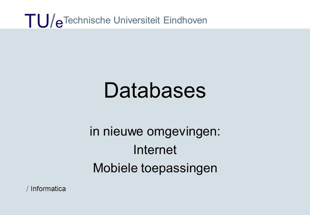 in nieuwe omgevingen: Internet Mobiele toepassingen