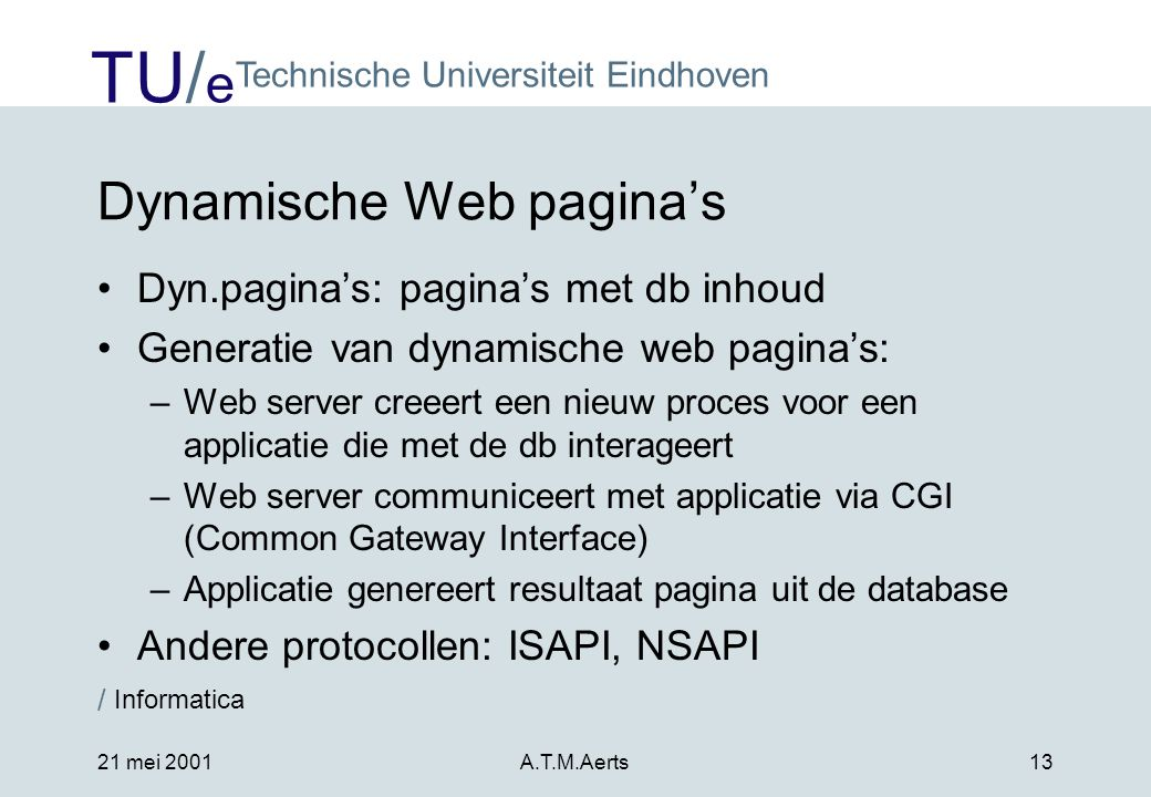Dynamische Web pagina's