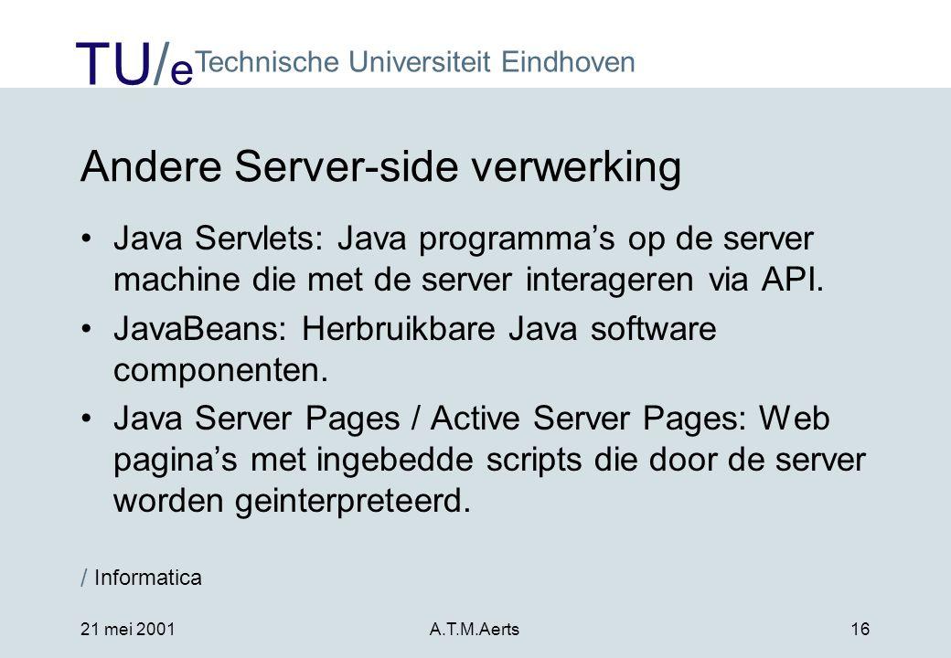 Andere Server-side verwerking