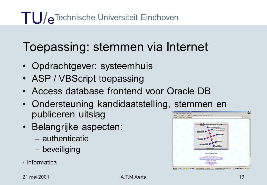 Toepassing: stemmen via Internet