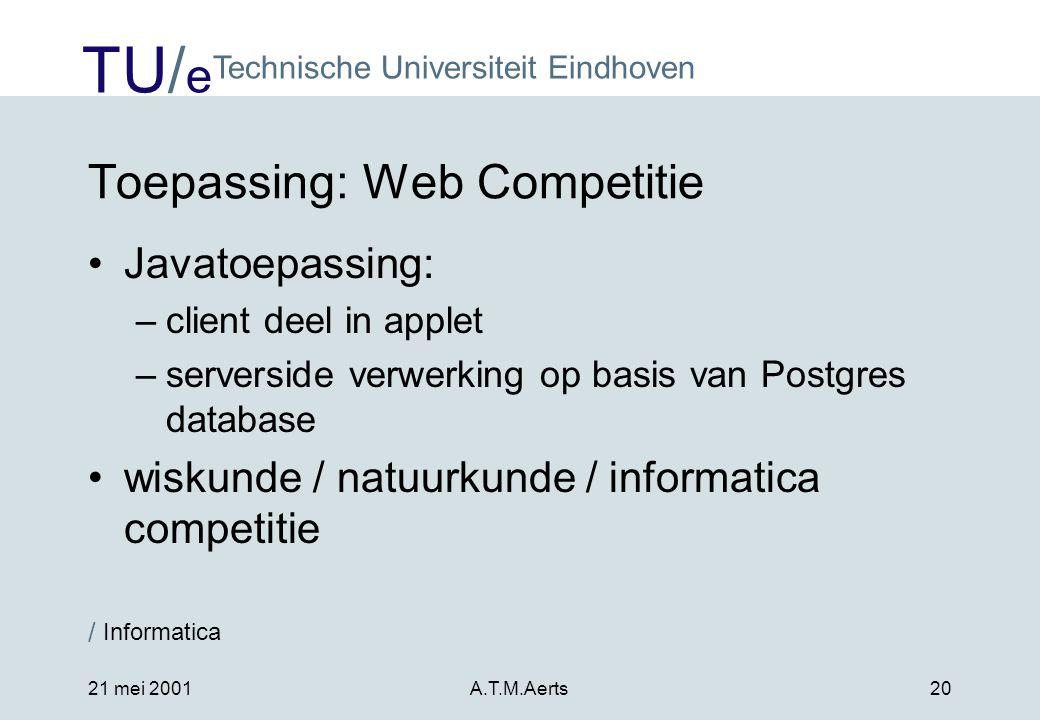 Toepassing: Web Competitie