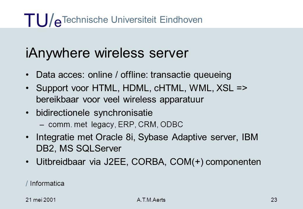 iAnywhere wireless server