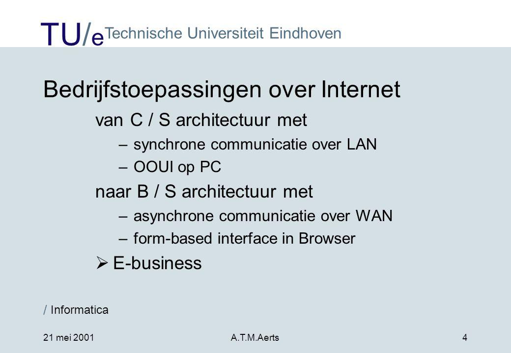 Bedrijfstoepassingen over Internet