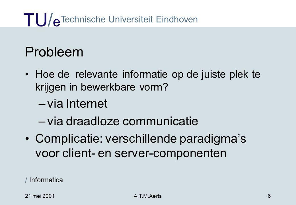 Probleem via Internet via draadloze communicatie