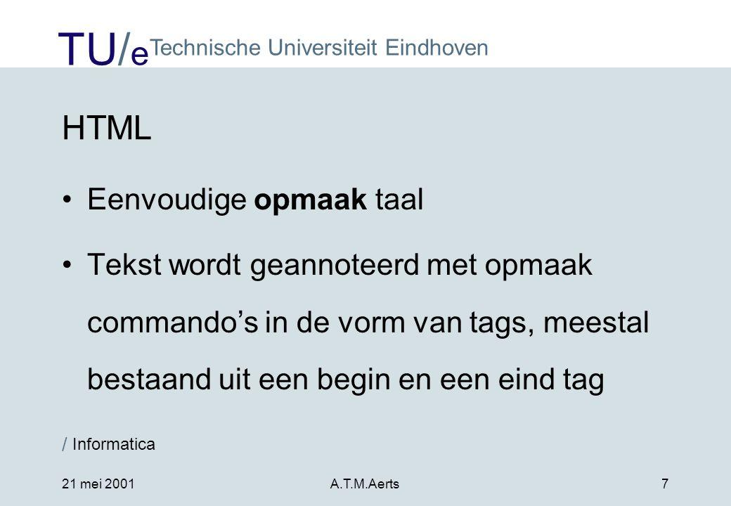 HTML Eenvoudige opmaak taal