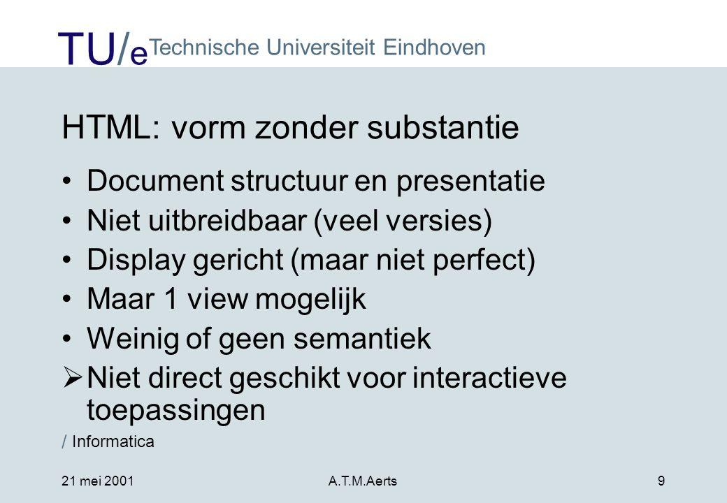 HTML: vorm zonder substantie
