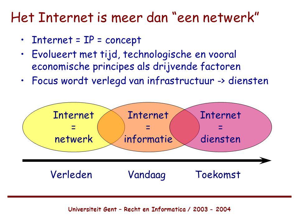 Het Internet is meer dan een netwerk