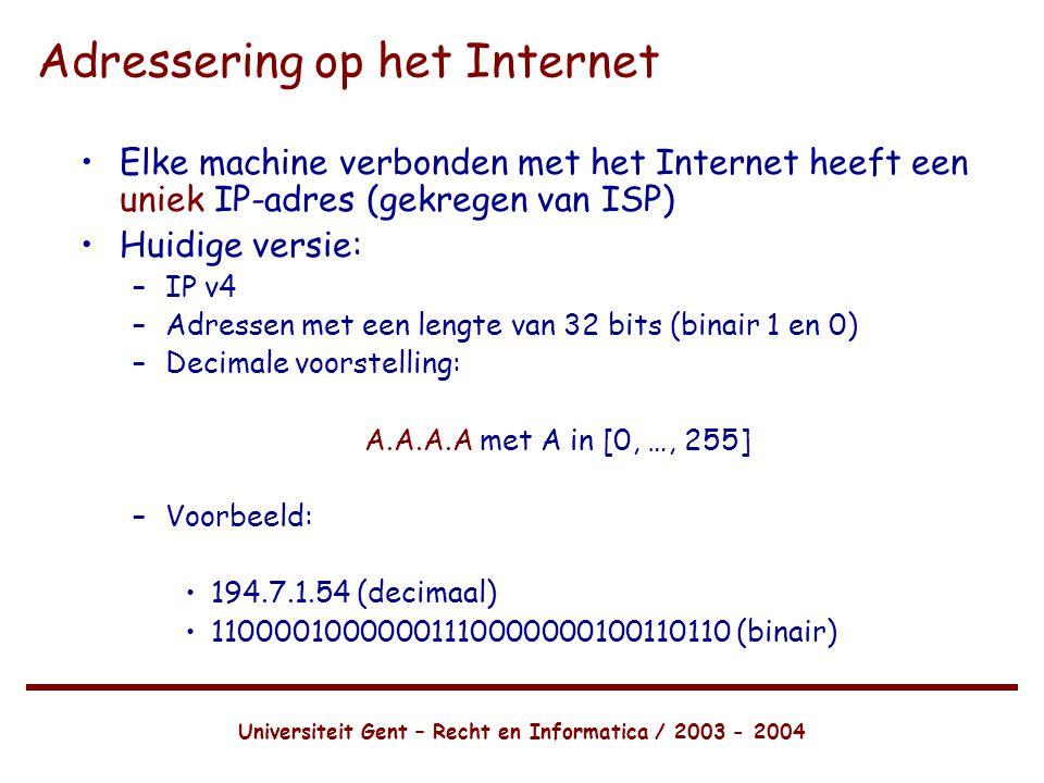 Adressering op het Internet