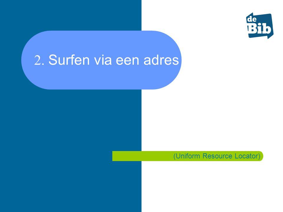 2. Surfen via een adres of URL