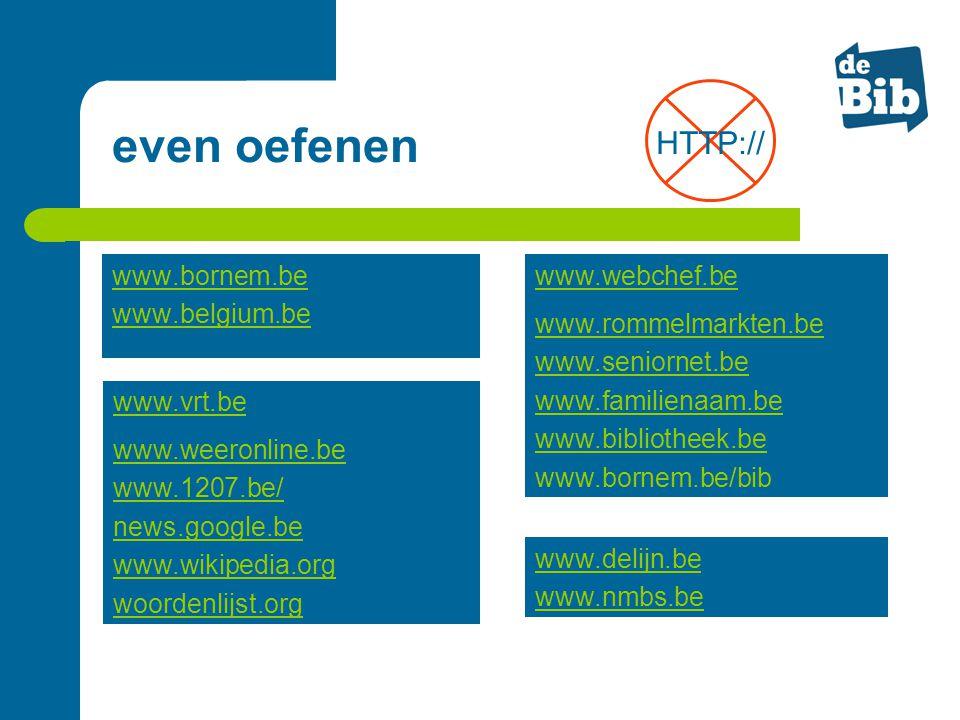 www.bornem.be www.belgium.be