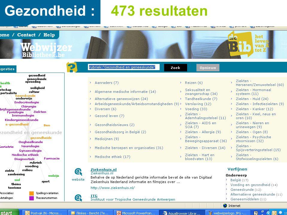 Gezondheid : 473 resultaten