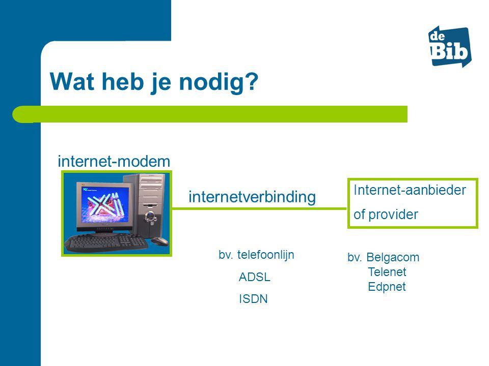 Wat heb je nodig internet-modem internetverbinding Internet-aanbieder
