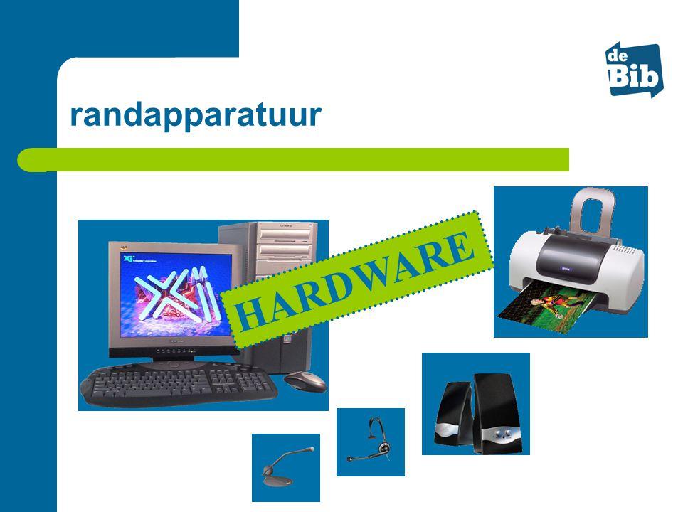HARDWARE randapparatuur Randapparatuur = zelfde grootte als onderdelen