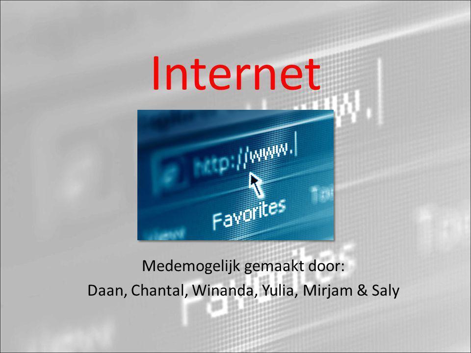 Internet Medemogelijk gemaakt door: