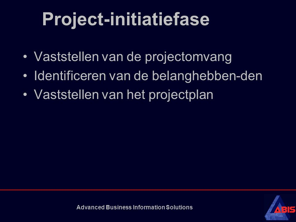Project-initiatiefase