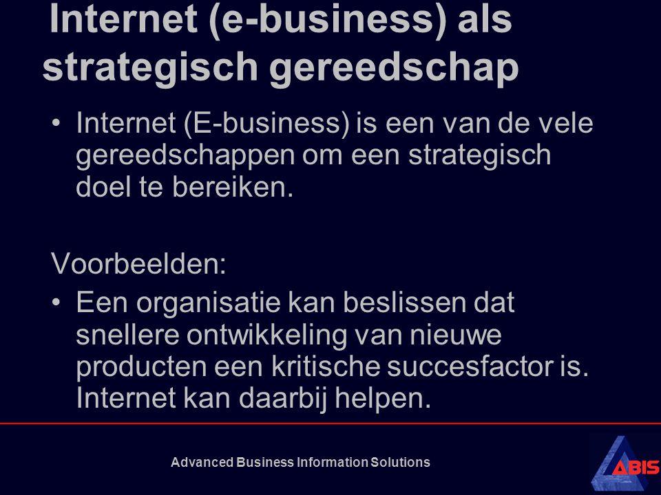 Internet (e-business) als strategisch gereedschap