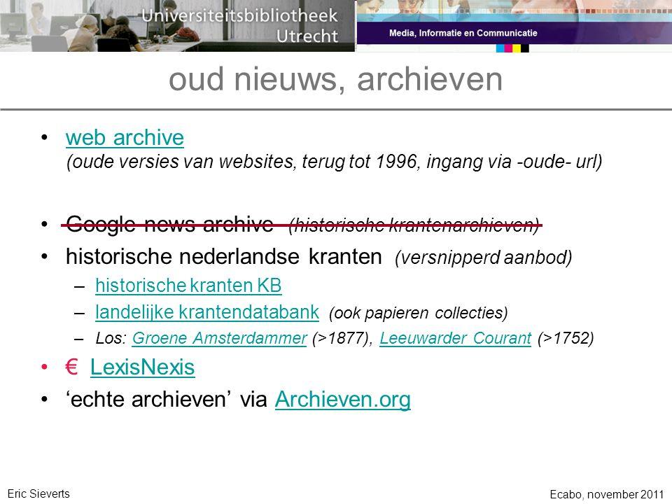 oud nieuws, archieven web archive