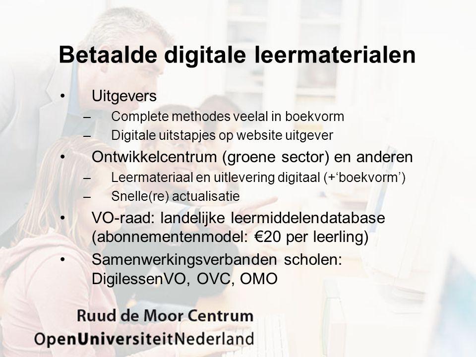 Betaalde digitale leermaterialen