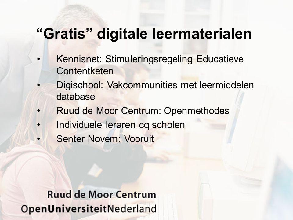 Gratis digitale leermaterialen