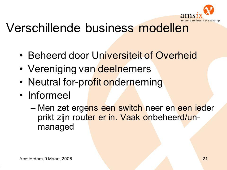Verschillende business modellen